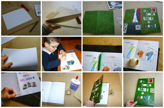DIY proceso de creación de un libro cartonero