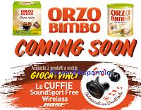 Logo Concorso ''A tutto volume con Orzo Bimbo'' e vinci cuffie SoundSport Free Wireless Bose! Anticipazione