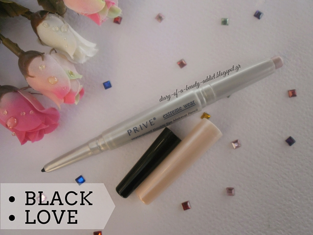 PRIVE Waterproof Double Eye Makeup Pencil Black Love