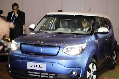 Ben Bruce Takes Delivery of Made-In-Nigeria KIA Soul