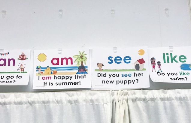 Sight Word of the Day display
