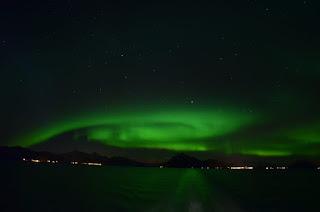 Aurora Borealis - Polar- oder Nordlicht bei den Lofoten in Norwegen