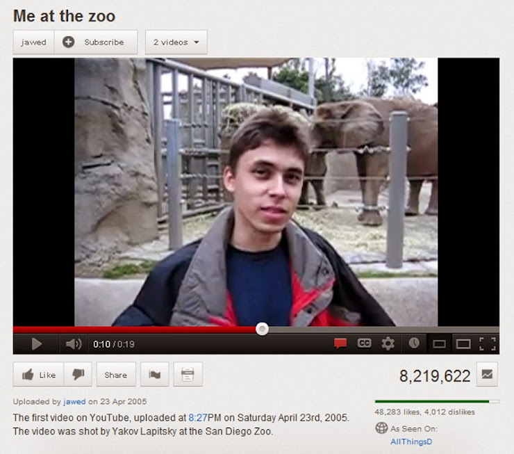 Primer vídeo de YouTube
