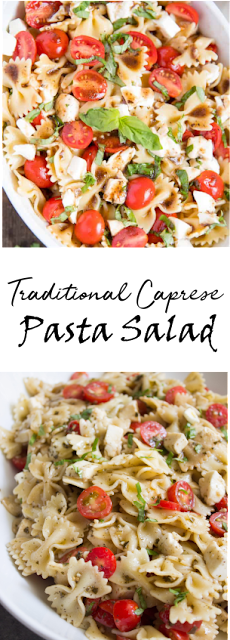 Traditional Caprese Pasta Salad