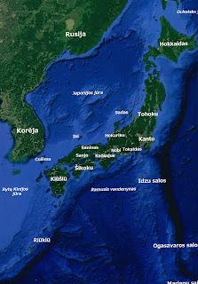 Japonijos žemėlapis