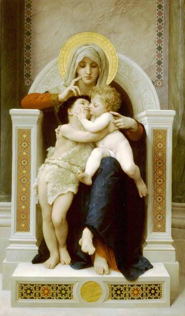 Адольф Вильям Бугро - Богородица, Иисус И Святой Иоанн Креститель (1875)