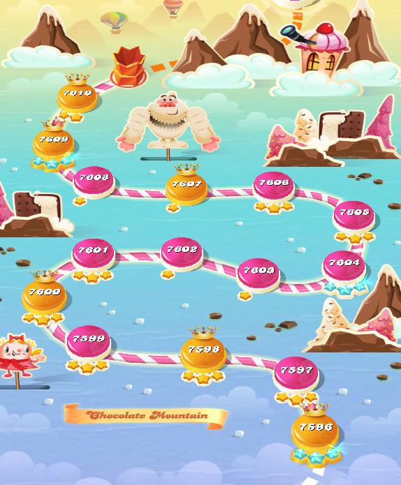Candy Crush Saga level 7596-7610
