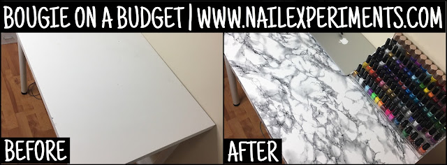 nail experiments bougie on a budget marble table diy