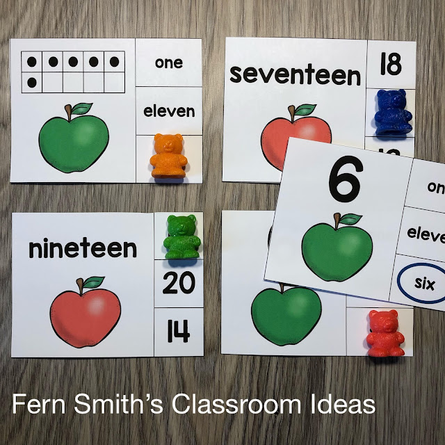 Click Here to Download These Easy Prep Apple Themed Number Clip Card Math Centers with FOUR Ways to Differentiate Using Numbers, Number Words & Ten Frames for Your Class Today!