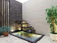 Harga jasa pembuatan taman dengan relief air terjun - tukang taman air mancur minimalis Surabaya