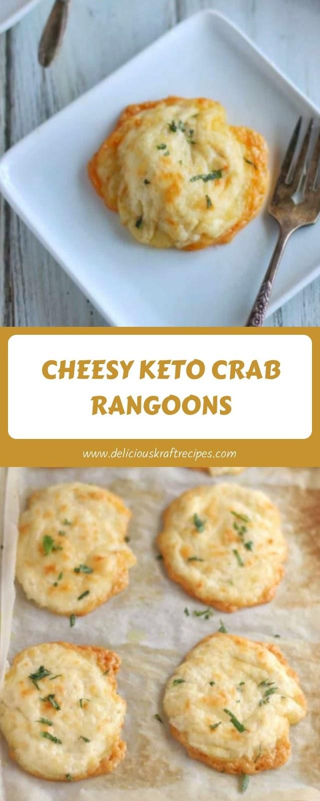 CHEESY KETO CRAB RANGOONS