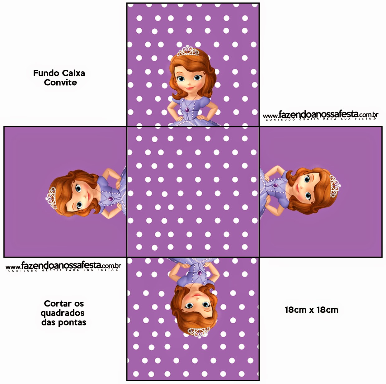 Sofia the First: Free Printable Boxes.   Oh My Fiesta! in english