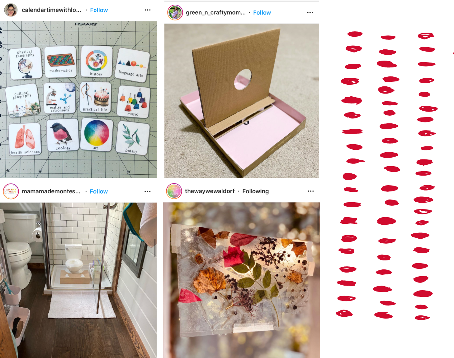 Montessori spaces, ideas, and activity inspiration from Instagram.