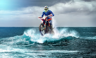 Motocross Enduro Wave Surfers Racing Motorized Scooter Parked Building Motorized Bicycle Nature Summer Flora Garden Flowers Picnic Romance