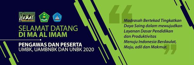 Banner Selamat Datang UNBK 2020
