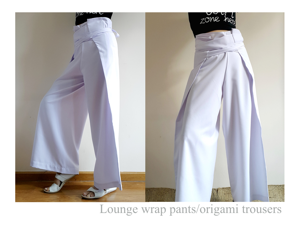 lounge wrap pantsorigami trousers elena fashion design