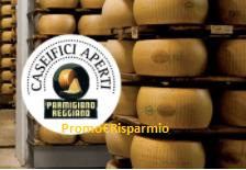 Logo Concorso ''Vivi e vinci'' : in palio forniture di Parmigiano Reggiano per 3 anni!