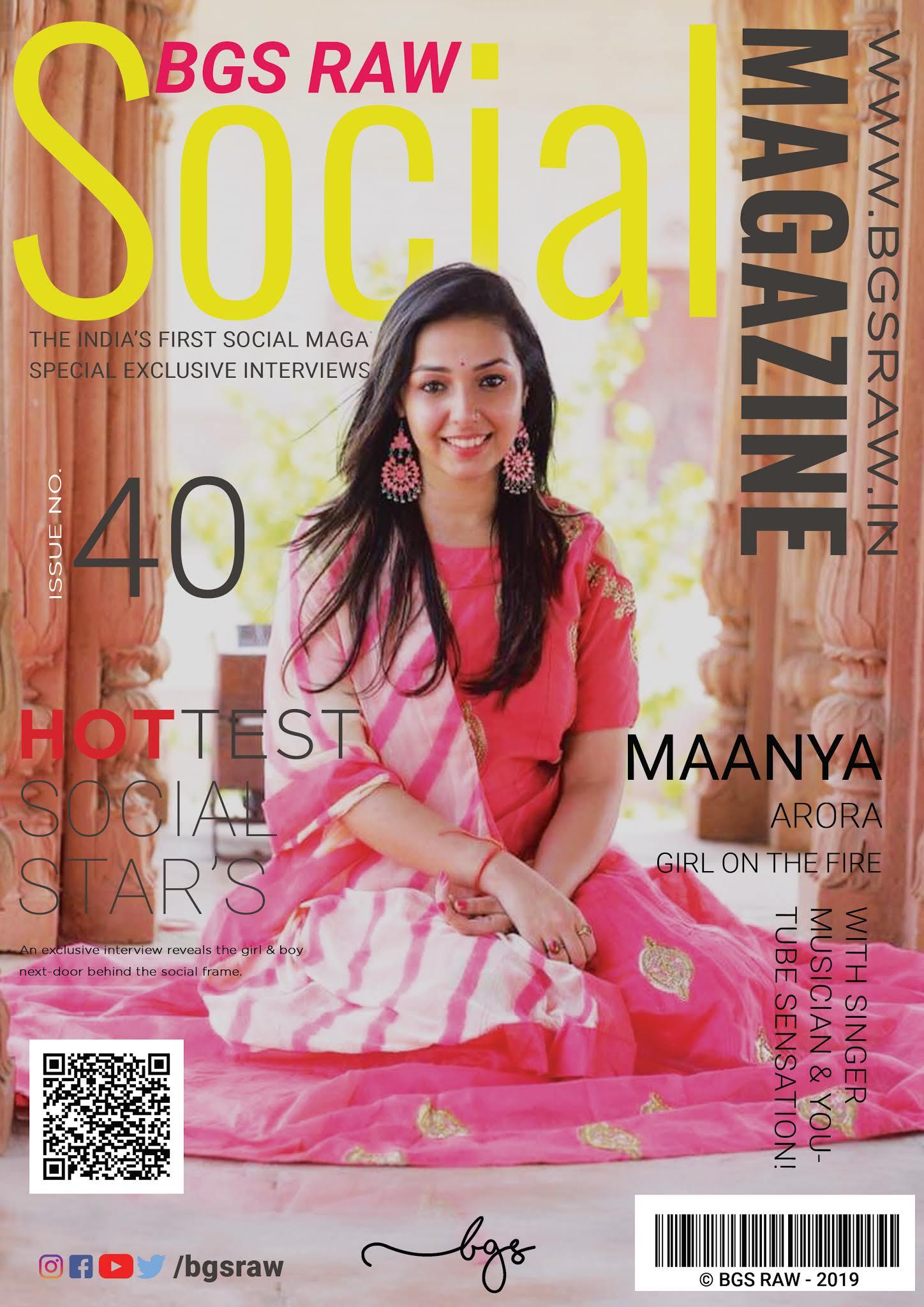 Maanya Arora Inspiration story on Bgs Raw, Maanya is a singer, musician, youtuber, Youtube sensational singer, youtube stars india,