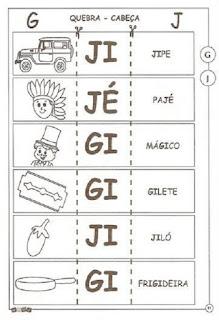 Atividade ortografia alfabetização