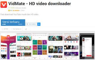 Download video, Aplikasi, Vidmate