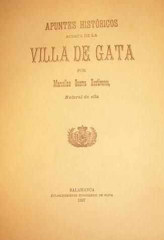APUNTES HISTÓRICOS ACERCA DE LA VILLA DE GATA