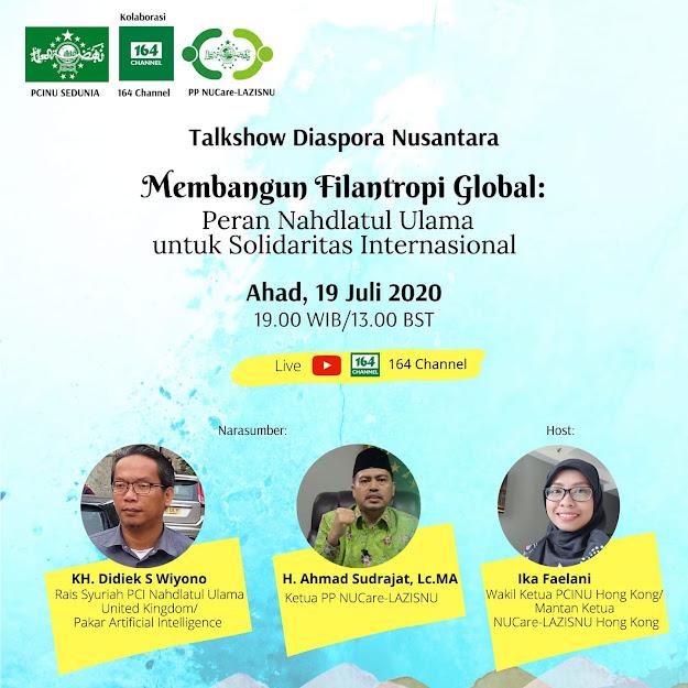 Talkshow Diaspora Nusantara PCINU Sedunia : Membangun Filantropi Global
