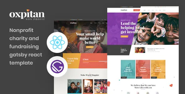 Best Gatsby React Nonprofit Charity Template