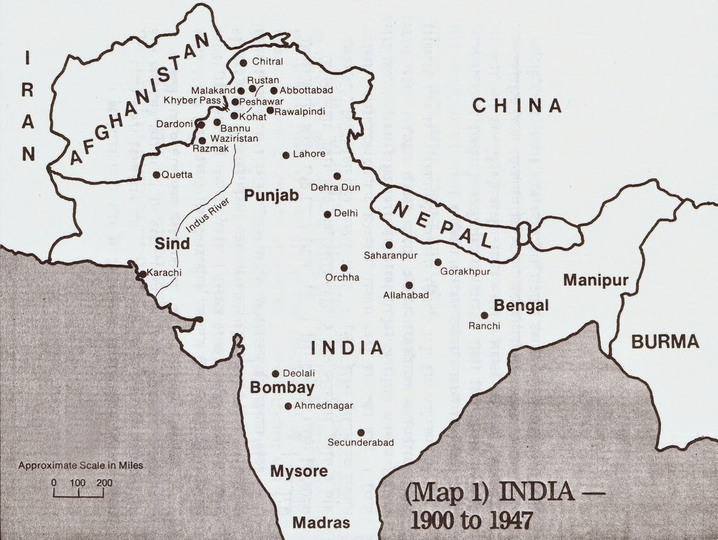 Map India 1900-1947