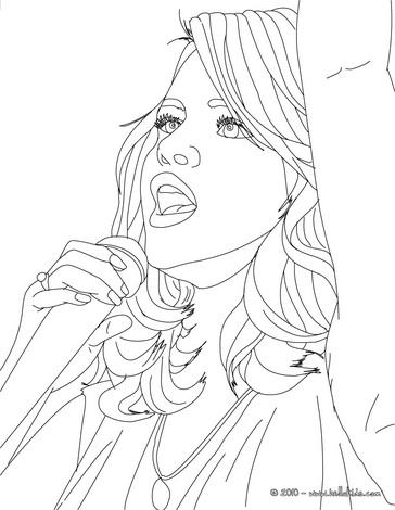 Selena gomez para colorir em 10 desenhos desenhos e riscos for Selena gomez coloring page
