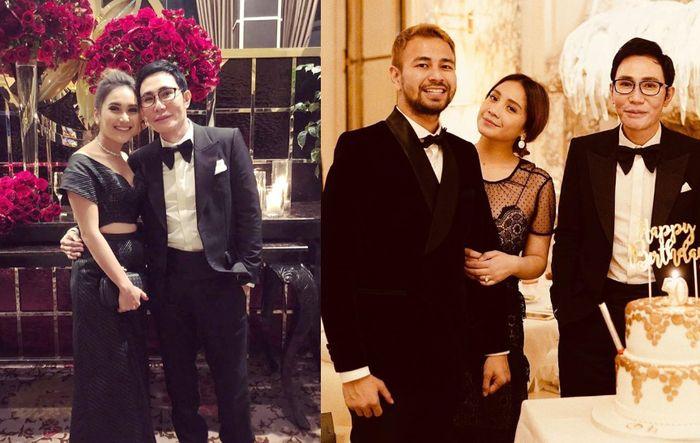 Penampilan seksi Ayu Ting Ting dan Nagita Slavina saat hadiri pesta ulang tahun bos TV Otis Hahijary