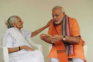 modi-starts-his-birthday-with-blessings-of-mother