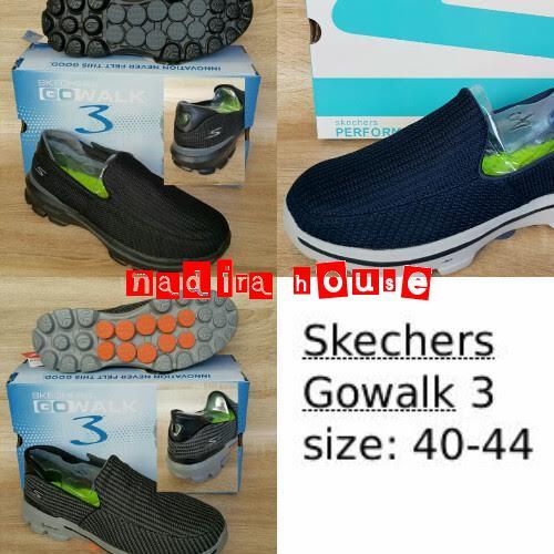 Skechers Gowalk 3 Womens Sneakers Hitam - Daftar Harga Terkini dan ... 7c0219812b