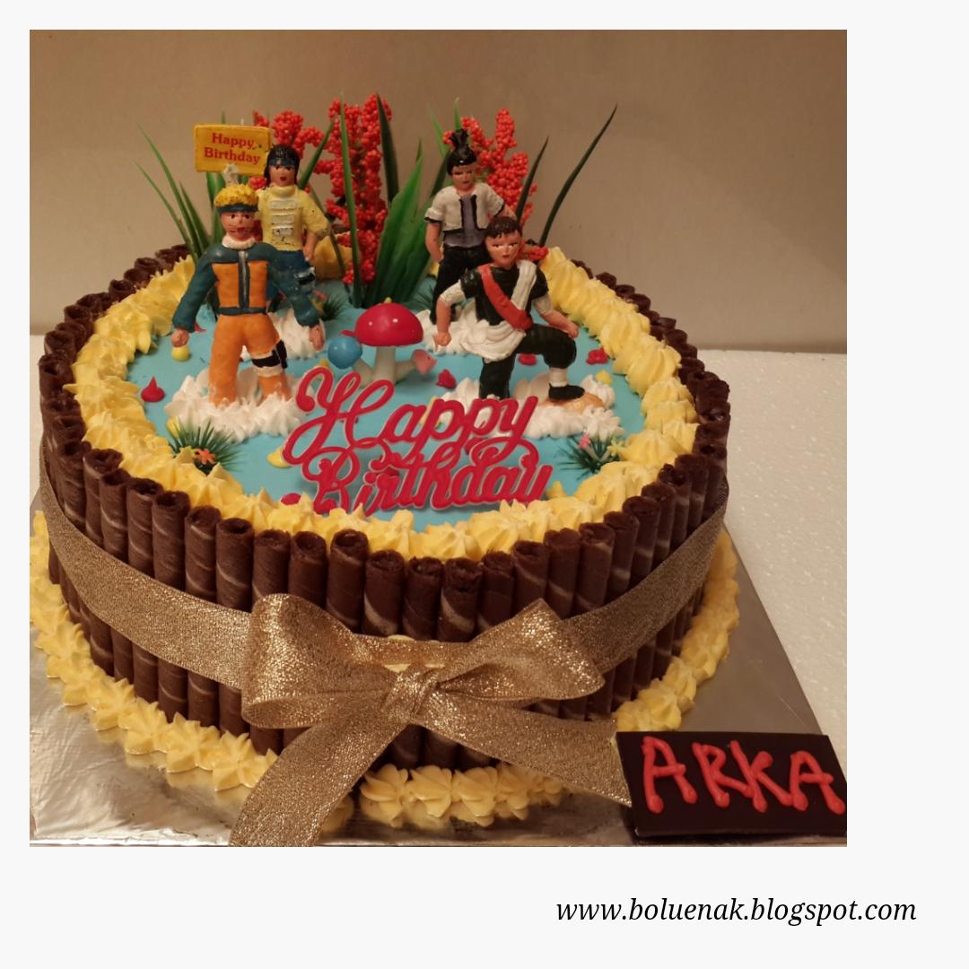 Toko Kue Bolu Enak Naruto Birthday Cake Plus Astor