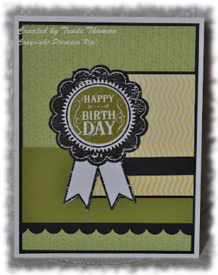 Stamp with Trude, Stampin' Up!, Blue Ribbon, Birthday card, masculine