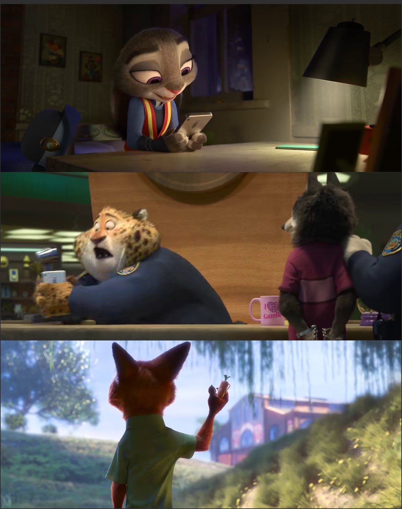 Screen Shot Of Zootopia 2016 300MB Full Movie Hindi Dubbed Free Download 480P BRRip Small Size PC Movie