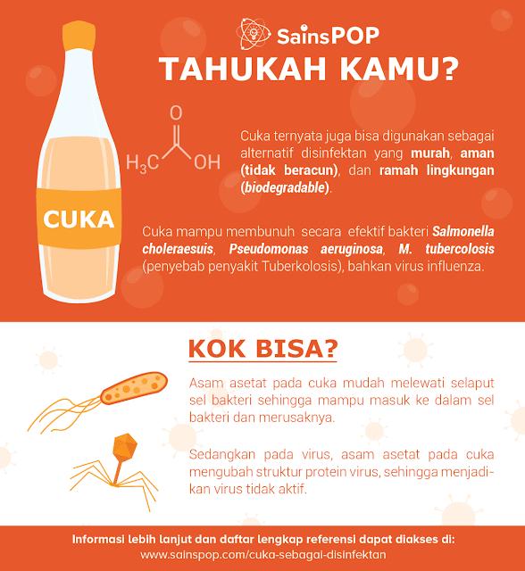 Cara Membuat Disinfektan Alternatif dari Cuka