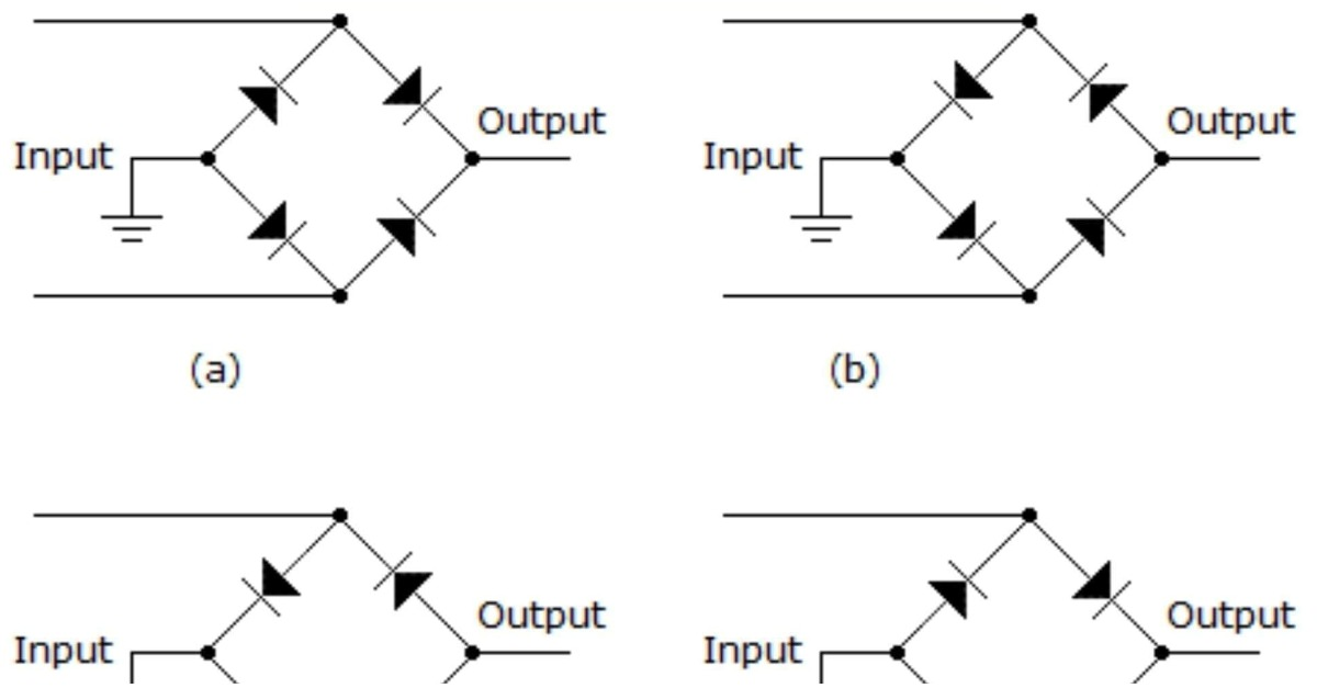 Which Diode Arrangement Will Supply a Negative Output