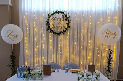 kurtyna świetlna wypożyczalnia dekoracji rzeszów ślubnażyczenie