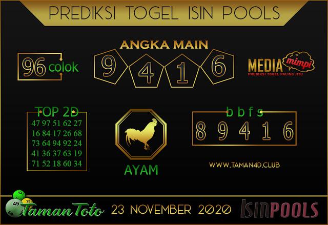 Prediksi Togel ISIN TAMAN TOTO 23 NOVEMBER 2020