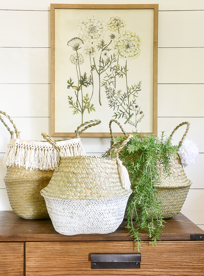 How to easy and inexpensively add decorate belly baskets