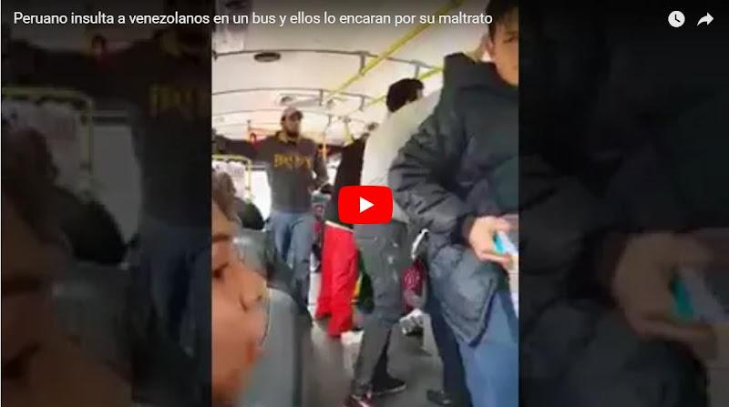 Peruanos defendieron a dos venezolanos refugiados que estaban vendiendo en un autobús
