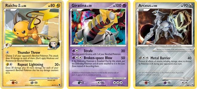 Carta Pokémon TCG Série Platinum