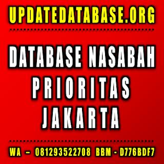 Jual Database Nasabah Prioritas Jakarta