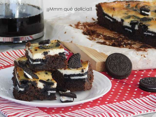 Brownie De Oreo & Cheesecake