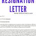 resignation lettre
