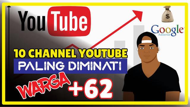 10 Jenis Channel Youtube Yang Paling Diminati Warga +62