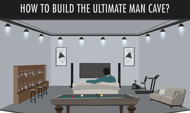 How to Build the Ultimate Man Cave? #infographic