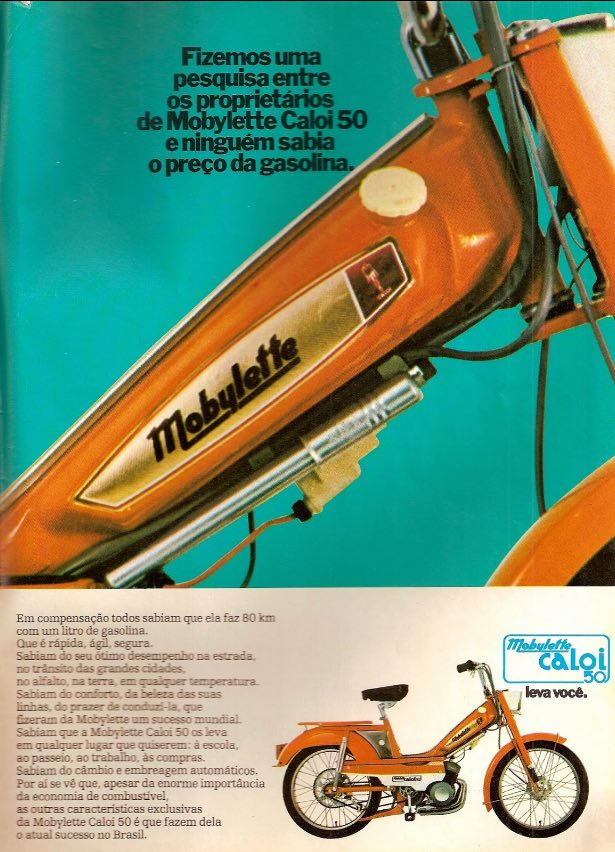 Propaganda da Caloi veiculada em 1976 promovendo sua mobilete