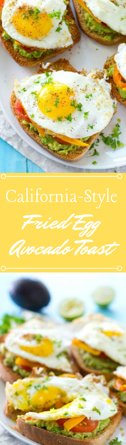 CALIFORNIA-STYLE FRIED EGG AVOCADO TOAST #vegetarian #salad #easy #avocado #eggfood