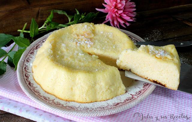 Tarta de queso japonesa. Julia y sus recetas